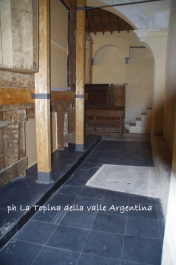 accesso cripta Santuario Madonna della Montà Molini di Triora