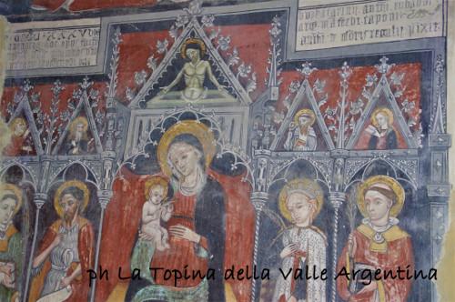 affresco Antonio da Monregale il Dragone - Santuario Madonna della Montà