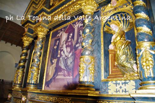 altare ligneo Buscaglia Santuario Madonna della Montà