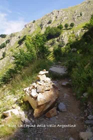 sentiero montagna lago rovina