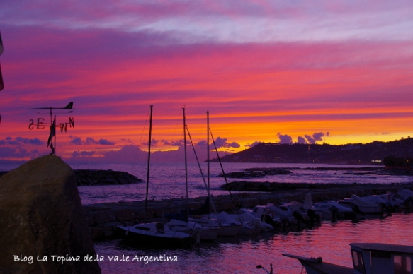 porto tramonto